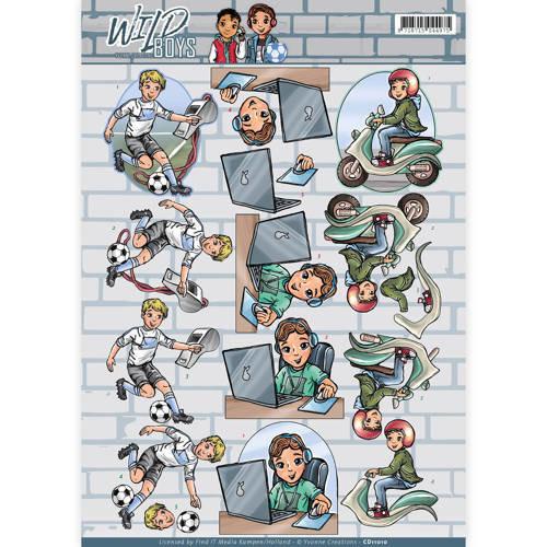 Yvonne Creations CD11010 - 10 stuks knipvellen - Yvonne Creations - Wild Boys - My Passion