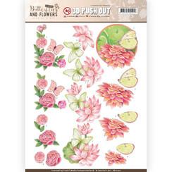 SB10220 - Uitdrukvel - Jeanines Art- Classic Butterflies and Flowers - Sweet Butterflies