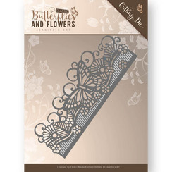JAD10021 - Mal - Jeanines Art- Classic Butterflies and Flowers - Butterfly Border