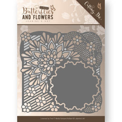 JAD10020 - Mal - Jeanines Art- Classic Butterflies and Flowers - Flower Frame