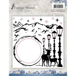 ADEMB10008 - Embossingfolder - Amy Design - Vintage Winter