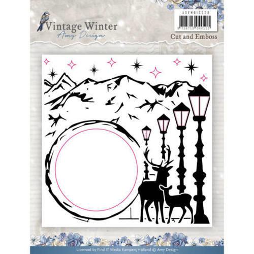 Amy Design ADEMB10008 - Embossingfolder - Amy Design - Vintage Winter