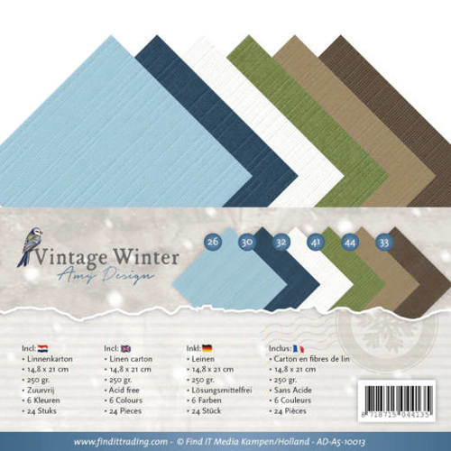 Amy Design AD-A5-10013 - Linnenpakket - A5 - Amy Design - Vintage Winter