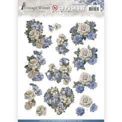 SB10216 - Uitdrukvel - Amy Design - Vintage Winter - Winter Flowers