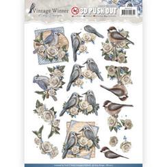 SB10215 - Uitdrukvel - Amy Design - Vintage Winter - Winter Birds