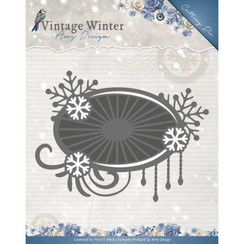 ADD10124 - Mal - Amy Design - Vintage Winter - Snowflake Swirl Label