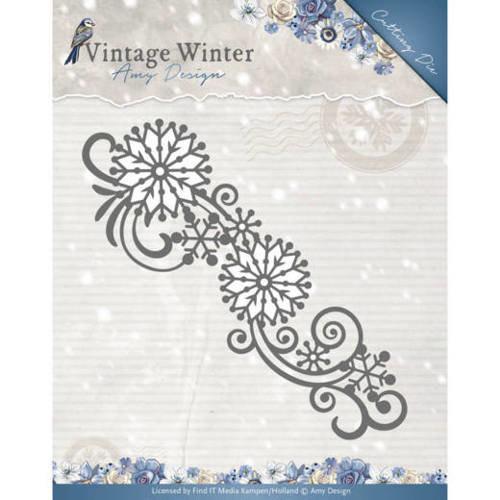 Amy Design ADD10123 - Mal - Amy Design - Vintage Winter - Snowflake Swirl Border