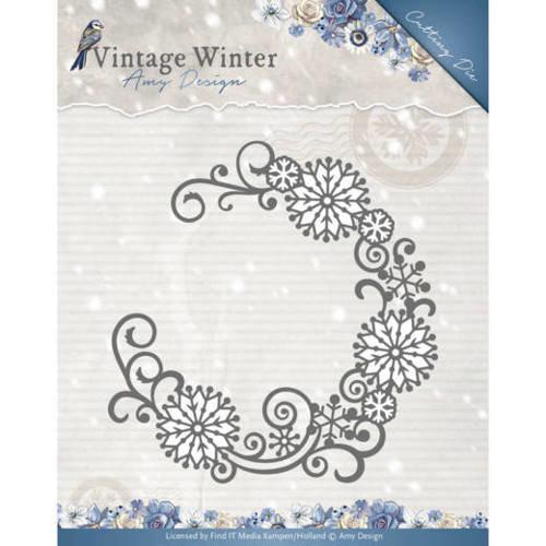 Amy Design ADD10122 - Mal - Amy Design - Vintage Winter - Snowflake Swirl Round