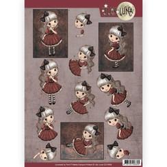 CD10998 - 10 stuks knipvellen - Lilly Luna - Just be yourself