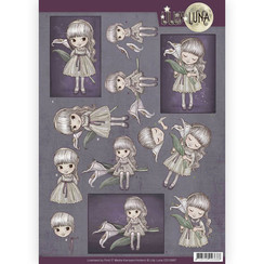 CD10997 - 10 stuks knipvellen - Lilly Luna - Missing you dearly