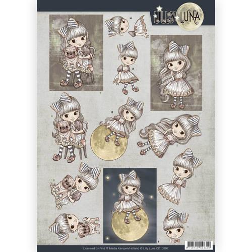Lilly Luna CD10996 - 10 stuks knipvellen - Lilly Luna - A friend to hold
