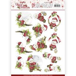SB10207 - Uitdrukvel - Precious Marieke - Joyful Christmas - Santa on branch