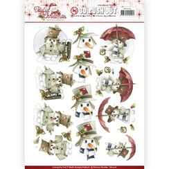 SB10206 - Uitdrukvel - Precious Marieke - Joyful Christmas - Snowman