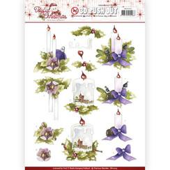 SB10205 - Uitdrukvel - Precious Marieke - Joyful Christmas - Christmas candles