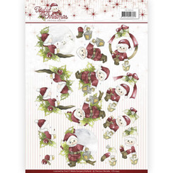 CD10943 - 10 stuks knipvellen - Precious Marieke - Joyful Christmas - Santa on branch