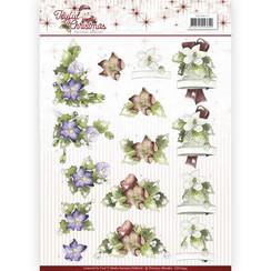CD10944 - 10 stuks knipvellen - Precious Marieke - Joyful Christmas - Christmas rose