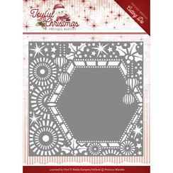 PM10108 - Mal - Precious Marieke - Joyful Christmas - Ribbon frame