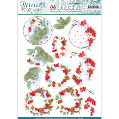 SB10204 - Jeanines Art- Winter Classics - Winterberries - 3D Push Out