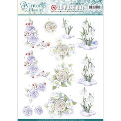 SB10203 - Jeanines Art- Winter Classics - Snow flowers - 3D Push Out
