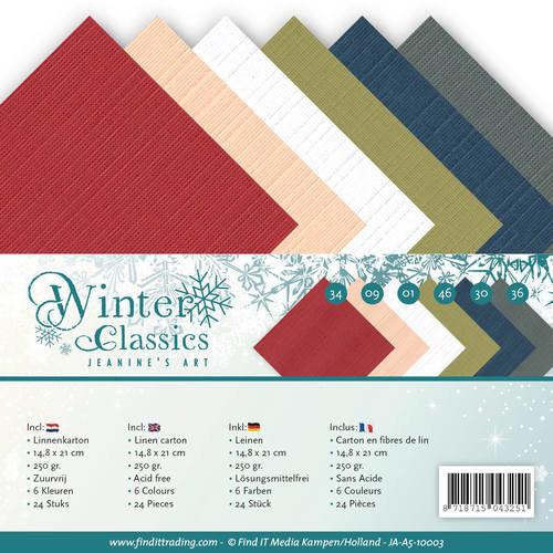 Jeanines Art JA-A5-10003 - Linnenpakket - A5 - Jeanines Art - Winter Classics