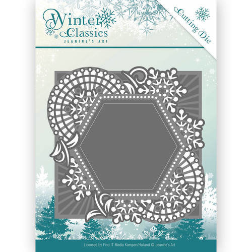 Jeanines Art JAD10015 - Mal - Jeanines Art- Winter Classics - Mosaic frame