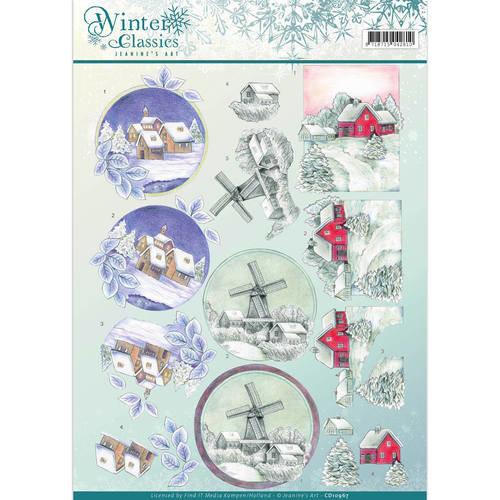 Jeanines Art CD10967 - 10 stuks knipvellen - Jeanines Art- winter classics- Christmas Landscapes