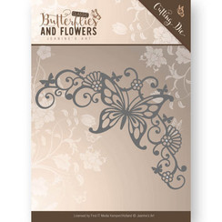 JAD10023 - Mal - Jeanines Art- Classic Butterflies and Flowers - Butterfly Corner