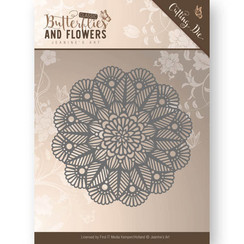 JAD10022 - Mal - Jeanines Art- Butterflies and Flowers - Doily