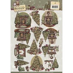 CD10957 - 3D Knipvel  - Yvonne Creations - Celebrating Christmas- Spirit