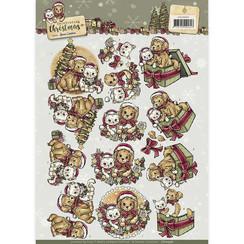 CD10956 - 3D Knipvel  - Yvonne Creations - Celebrating Christmas- Animals