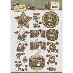 CD10955 - 3D Knipvel  - Yvonne Creations - Celebrating Christmas- Ornaments