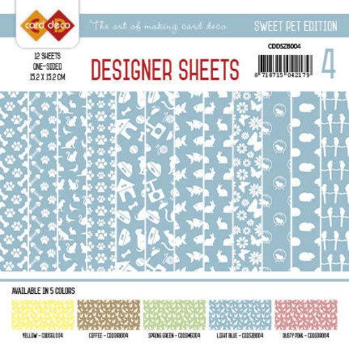 Amy Design CDDSZB004 - Card Deco - Designer Sheets -Sweet Pet- Zachtblauw