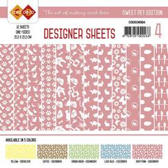 CDDSOR004 - Card Deco - Designer Sheets -  Sweet Pet-Oudroze
