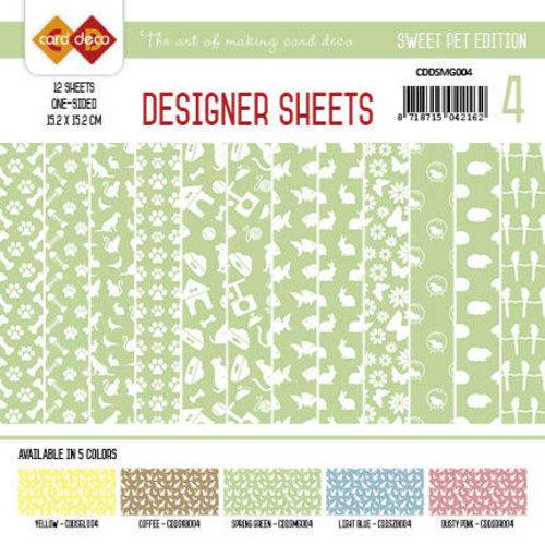 Amy Design CDDSMG004 - Card Deco - Designer Sheets - Sweet Pet-Meigroen