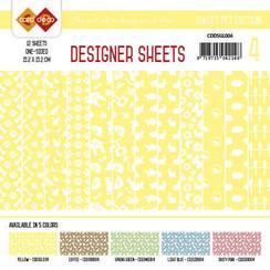 CDDSGL004 - Card Deco - Designer Sheets -Sweet  Pet-geel