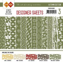 CDDSMG003 - Card Deco - Designer Sheets - Autumn Colors-Mosgroen