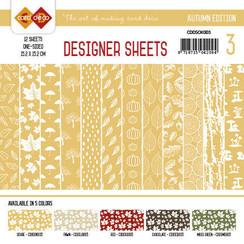 CDDSOK003 - Card Deco - Designer Sheets - Autumn Colors-Oker-