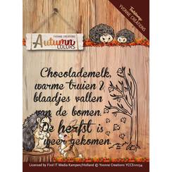 YCCS10034 - Stempel - Text stamp - Autumn Colors