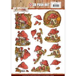 SB10193 - Uitdrukvel - Yvonne Creations - Autumn Colors- Mushrooms Houses