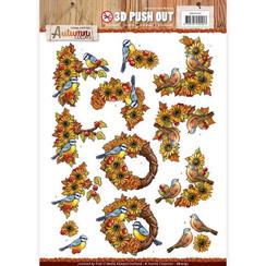 SB10192 - Uitdrukvel - Yvonne Creations - Autumn Colors-Birds