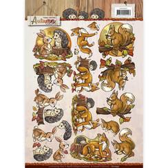 CD10947 - 10 stuks knipvellen - Yvonne Creations - Autumn Colors - Autumn Animals