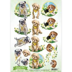 CD10960 - 10 stuks knipvellen - Amy Design - Sweet Pet- Dogs
