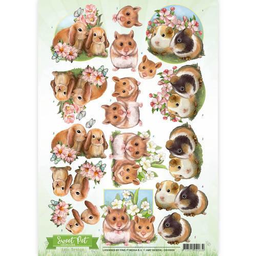 Amy Design CD10959 - 10 stuks knipvellen - Amy Design -Sweet  Pet- Rodents