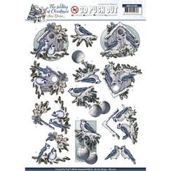 SB10190 - Uitdrukvel - Amy Design - The feeling of christmas - Christmas birds
