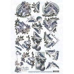 CD10924-HJ14901 - 10 stuks knipvellen - Amy Design - The feeling of Christmas - Christmas birds