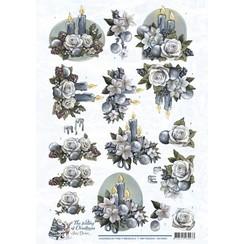 CD10923 - 10 stuks knipvellen - Amy Design - The feeling of Christmas - Christmas candles