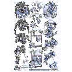 CD10922 - 10 stuks knipvellen - Amy Design - The feeling of Christmas - Christmas bells