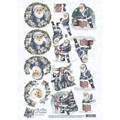CD10921 - 10 stuks knipvellen - Amy Design - The feeling of Christmas - Santa Claus
