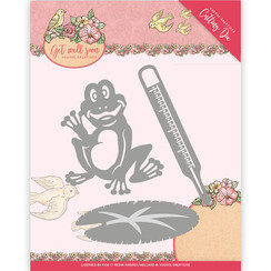 YCD10103 - Mal - Yvonne Creations - Get Well Soon - Get well frog