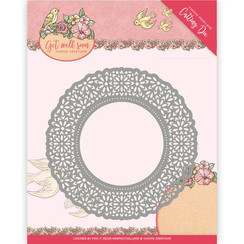 YCD10101 - Mal - Yvonne Creations - Get Well Soon - Flower Doily